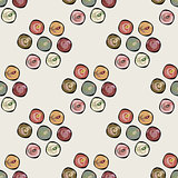 Abstract circles background seamless vector pattern.