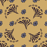Abstract flower seamless pattern background. Vector texture Flor