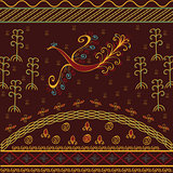 Bird ethnic ornamental background
