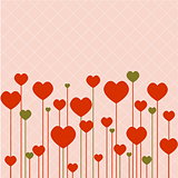 Love background with pink hearts
