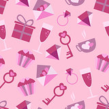 Valentines Day Love icons seamless pattern with icons