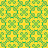 Yellow Decorative Retro Seamless Pattern.