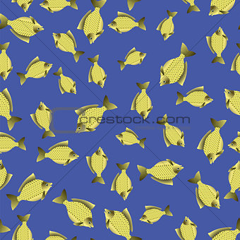 Fish Carp Seamless Pattern