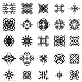 Set of Different Tribal Rosettes Tattoo Design