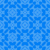 Blue Decorative Retro Seamless Pattern