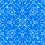 Blue Decorative Retro Seamless Pattern