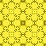 Yellow Decorative Retro Seamless Pattern