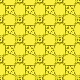 Vector Yellow Decorative Retro Seamless Pattern