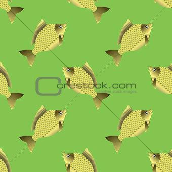 Fish Carp Seamless Pattern