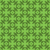 Decorative Retro Seamless Green Pattern