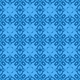 Decorative Retro Blue Seamless Pattern