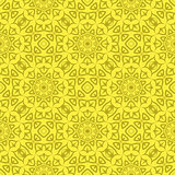 Decorative Retro Seamless Yellow Pattern