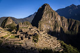 Machu Picchu Inca city, Peru at sunrise