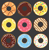 vector donuts set