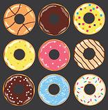 vector donuts set