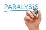 Paralysis Handwritten With Blue Marker