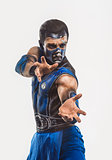 Professional bodyart Sub-Zero from Mortal Kombat