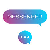 Messenger icon vector