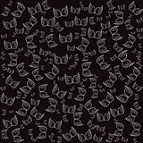 Angel wings black seamless pattern