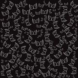 Angel wings black seamless pattern