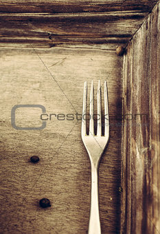 Fork and wood