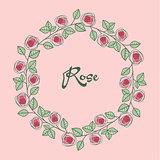 Vector of roses frame