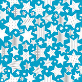 Seamless pattern background with stylized stars