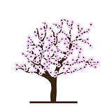 Stylized cherry tree