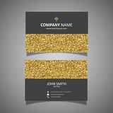 Gold glitter business card design