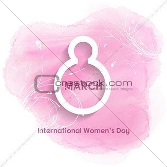 Watercolour women's day background