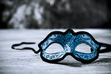 elegant blue carnival mask