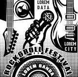 vector template for advertising poster rock and roll concert or festival