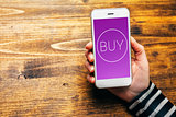 Using mobile wallet to purchase items in online shopping
