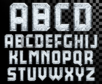 Alphabet of Crystal letters