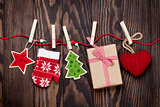 Christmas decor and gift box