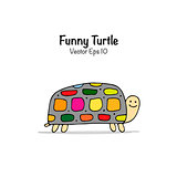 Funny turtle, sketch for your design