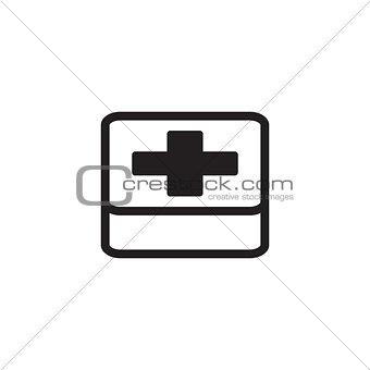 First Aid Symbol. Flat Design.