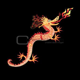 Beautiful vector dragon
