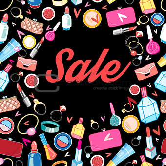 Poster sale different cosmetics