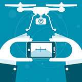 Quadrocopter remote control from smartphone