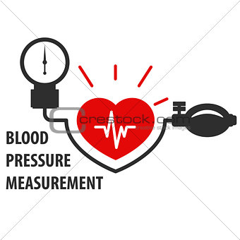 Blood pressure measurement icon - heart care