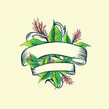 Vintage Ribbon Tropic Turmeric Floral Design