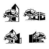 Oak Tree Realty Logo Set
