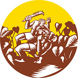 Losi Defeating God Circle Woodcut