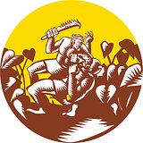 Losi Defeating God Circle Woodcut
