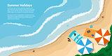 summer holidays banner