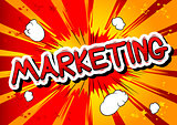 Marketing - Comic book style word.
