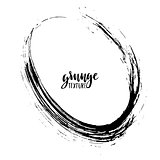 Grunge vector frame. Watercolor background. Hand drawn texture. Abstract round shape