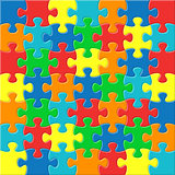 Background with joined puzzle pieces