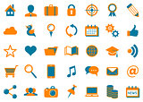 Vector social media flat icons